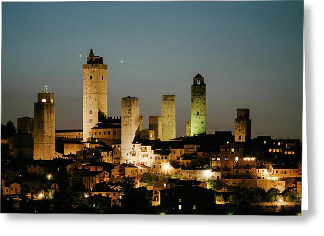The Medieval Town Of San Gimignano Greeting Card