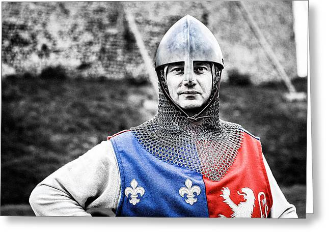 Greeting Card featuring the photograph The Medieval Warrior by Stwayne Keubrick
