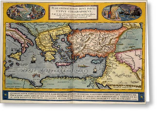 The Mediterranean Region Greeting Card by British Library