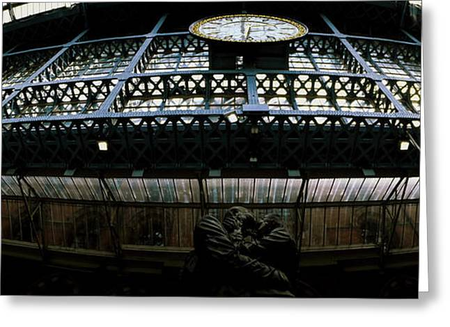 The Meeting Place Statue At St Pancras Greeting Card by Panoramic Images