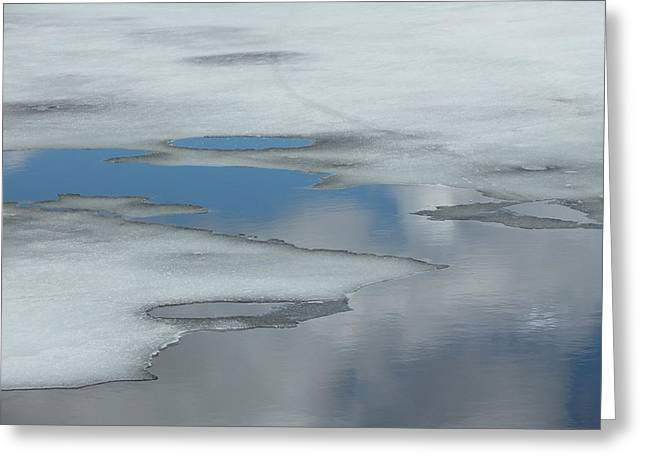 Greeting Card featuring the photograph The Melt by Gene Cyr