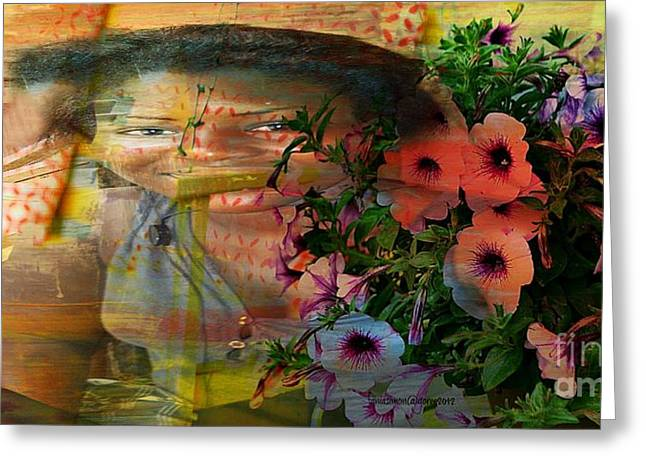 The Memory Of A Village Girl Greeting Card by Fania Simon