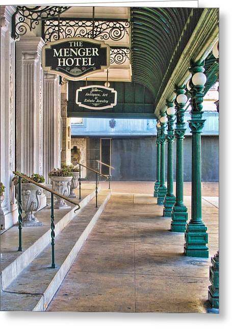 The Menger Hotel In San Antonio Greeting Card by David and Carol Kelly
