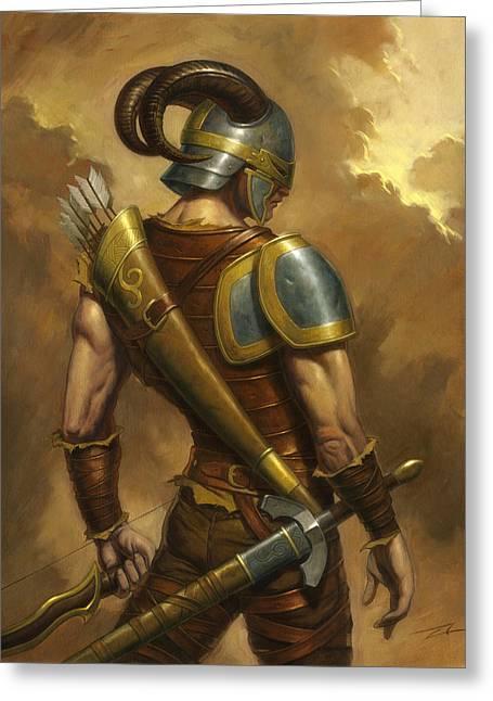 The Mercenary Greeting Card by Alan Lathwell