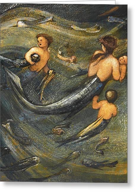 The Mermaid Family Greeting Card