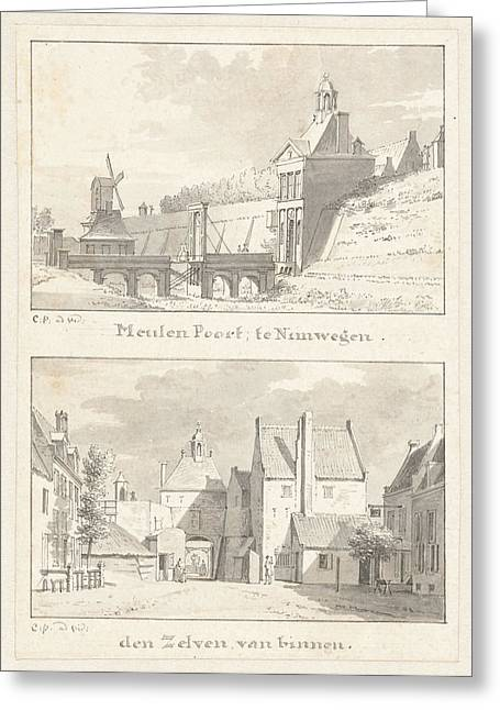 The Meulen Gate At Nijmegen Greeting Card by Quint Lox
