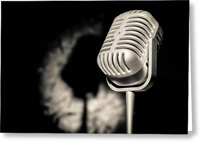 The Mic Is Yours Greeting Card by Semmick Photo