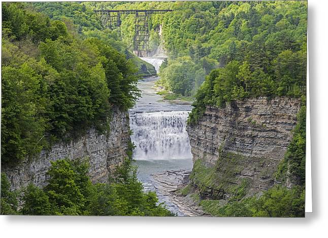 The Middle Falls At Letchworth State Park Greeting Card