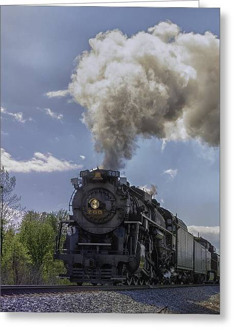 The Mighty 765 Steam Engine Greeting Card