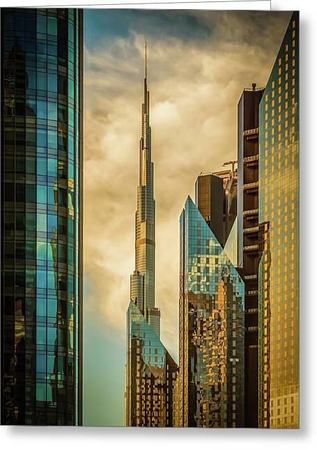 The Mighty burj Greeting Card