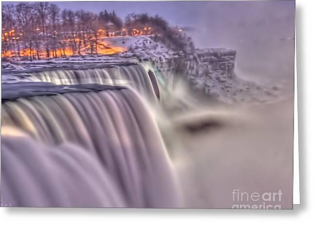 The Mighty Niagara Greeting Card by Jim Lepard