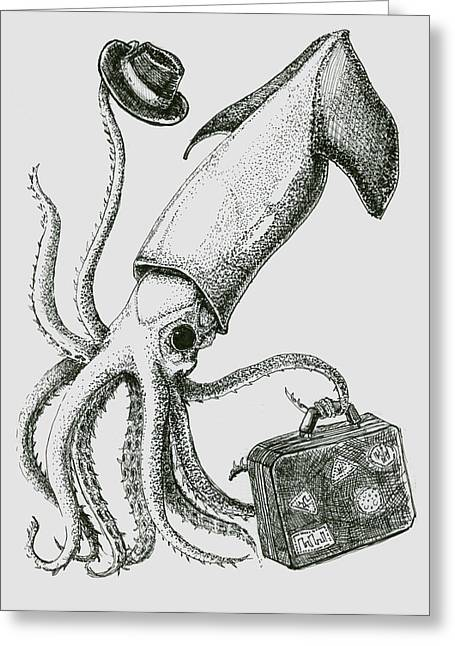 The Migration Of The Humboldt Squid Greeting Card