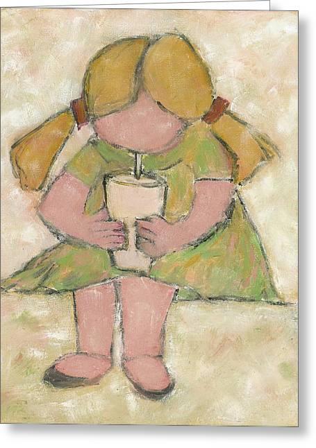 The Milkshake Greeting Card by David Dossett