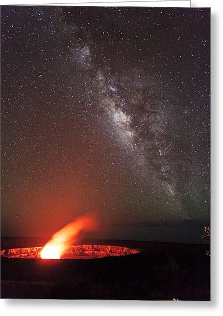 The Milky Way And Halema'uma'u Greeting Card