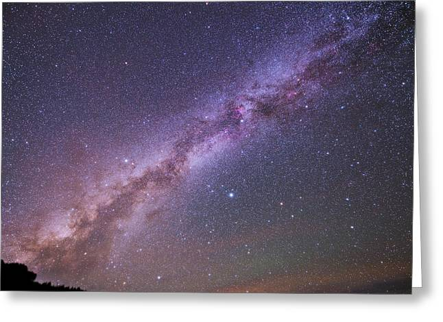 The Milky Way And Summer Triangle Greeting Card by Babak Tafreshi