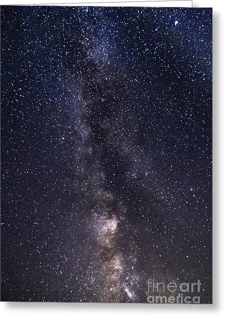 The Milky Way From Phippsburg Maine Usa Greeting Card by Patrick Fennell