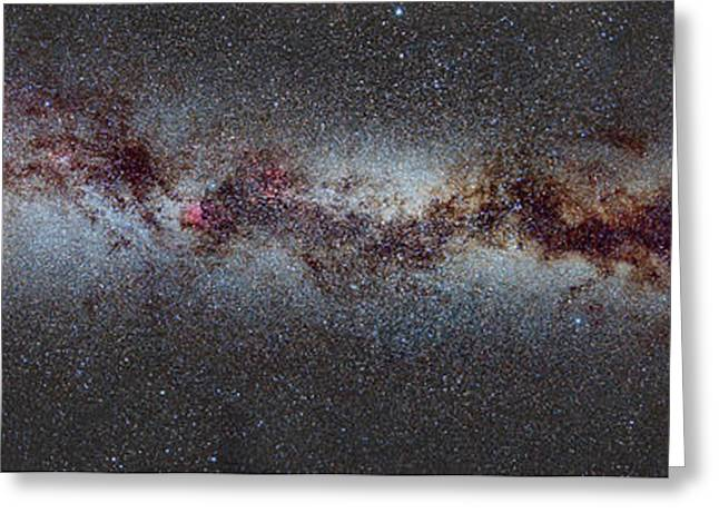 The Milky Way From Scorpio And Antares To Perseus Greeting Card