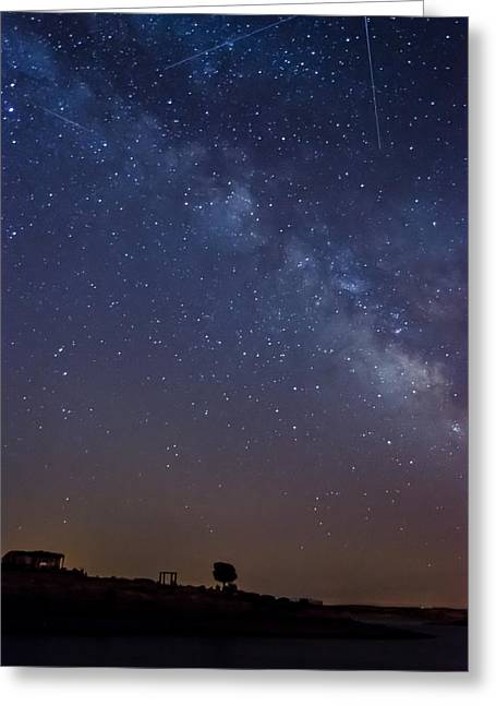 The Milky Way In The Lake Greeting Card by Alexandre Martins
