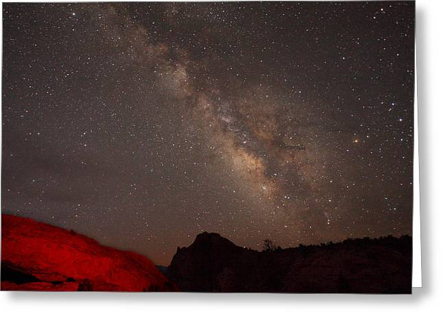 The Milky Way Over Mesa Arch Greeting Card