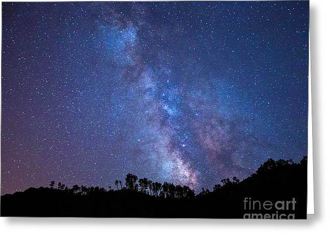 The Milky Way Over The Mountain Greeting Card