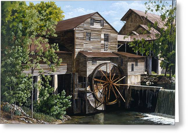 The Mill At Pigeon Forge Greeting Card by Marla J McCormick