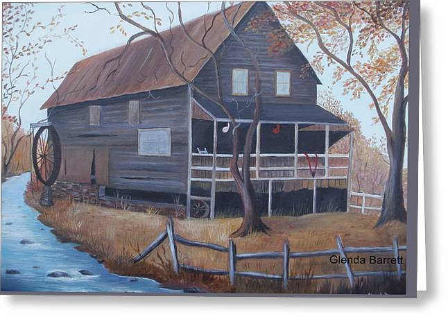 The Mill Greeting Card by Glenda Barrett