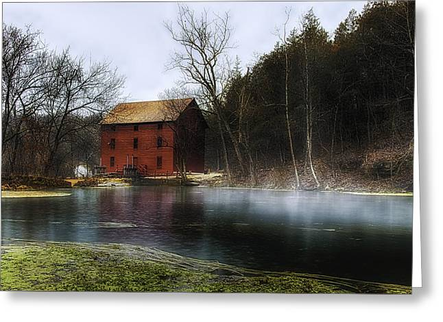 The Mill Pond Greeting Card by Ron  McGinnis