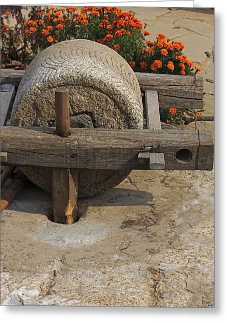 The Mill Stone Greeting Card by Qing