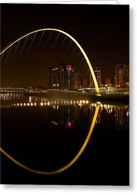The Millenium Bridge At Night Greeting Card by Stephen Taylor
