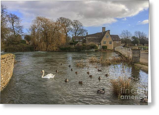The Millhouse At Fairford Greeting Card