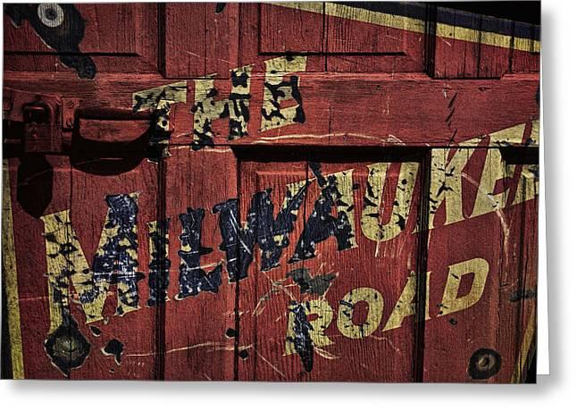 The Milwaukee Road Railroad Greeting Card by Daniel Hagerman