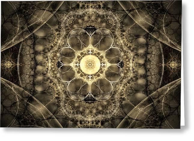The Mind's Eye Greeting Card by GJ Blackman