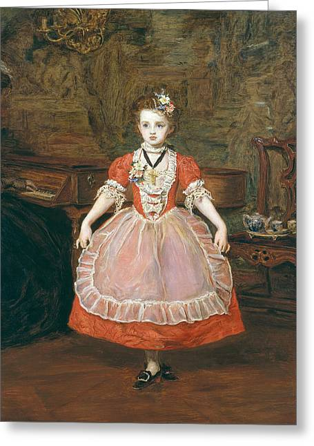 The Minuet  Greeting Card by Sir John Everett Millais