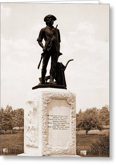 The Minute Man, Concord, Monuments & Memorials, Minutemen Greeting Card by Litz Collection