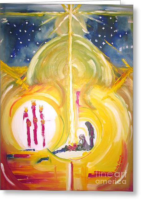 Greeting Card featuring the painting The Miracle by Judy Morris