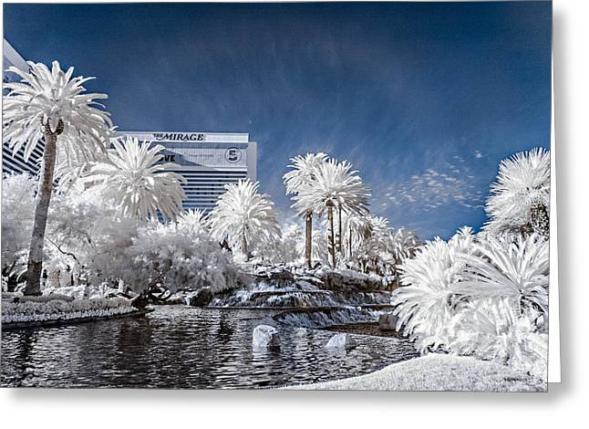 The Mirage In Infrared 1 Greeting Card