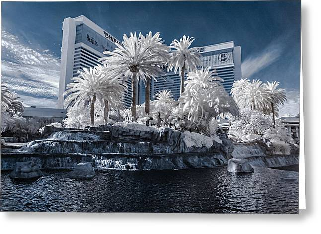 The Mirage In Infrared 2 Greeting Card