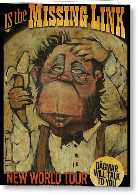 The Missing Link Poster Greeting Card by Tim Nyberg