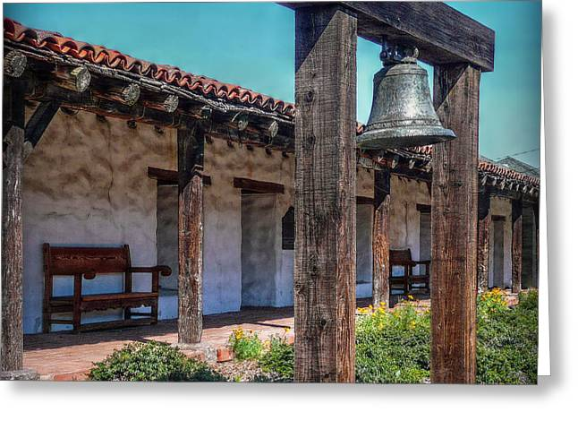 The Mission Bell Greeting Card by Hanny Heim