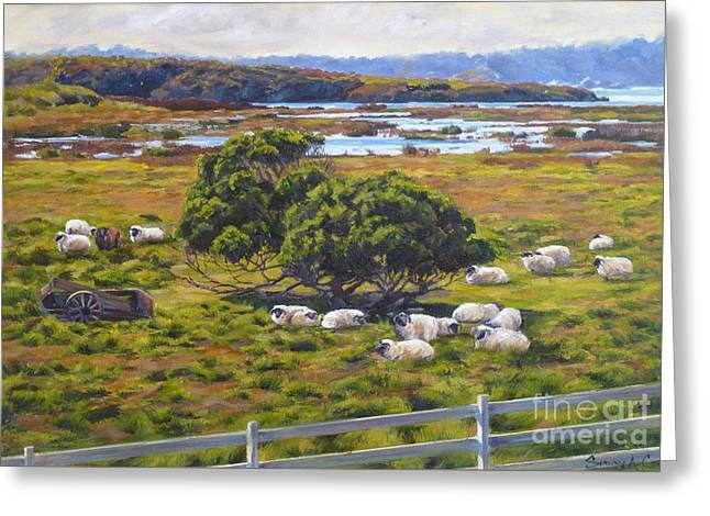 The Mission Ranch Greeting Card by Shelley Cost