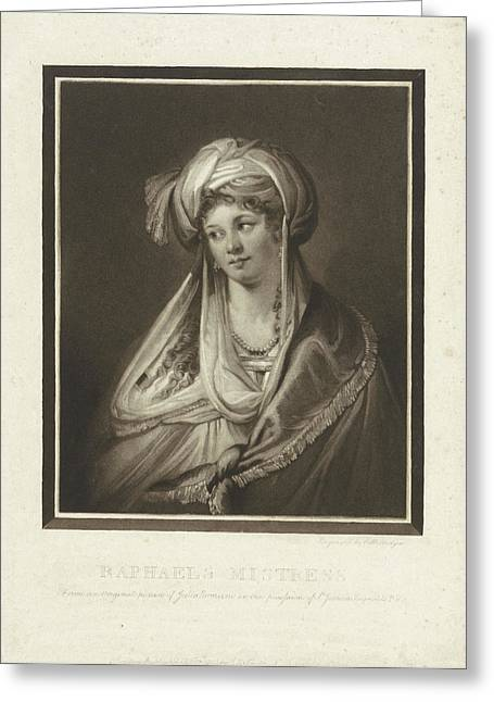 The Mistress Of Raphael, Print Maker Charles Howard Hodges Greeting Card by Charles Howard Hodges And Giulio Romano And John Raphael Smith