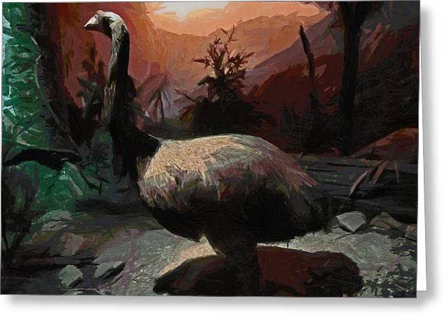The Moa Greeting Card by Steve Taylor
