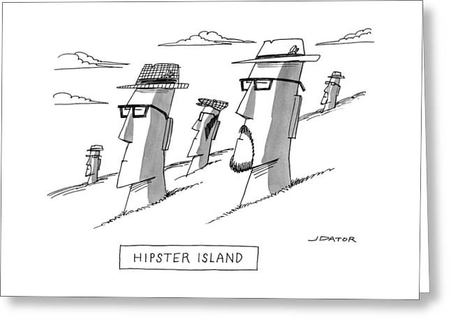 Hipster Island Greeting Card
