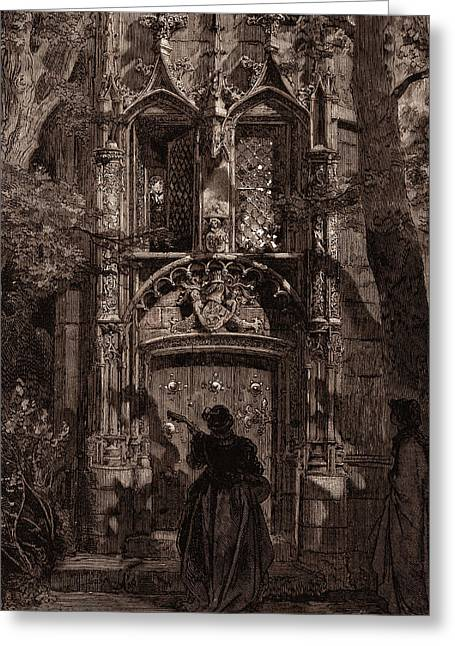 The Mock Serenade, By Gustave DorÉ. Dore Greeting Card