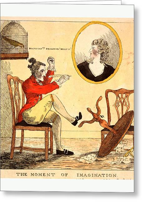 The Moment Of Imagination, Engraving 1785 Greeting Card