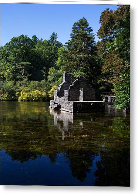 The Monks Fishing House, Part Of Cong Greeting Card