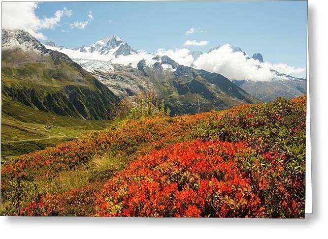 The Mont Blanc Mountain Range Greeting Card