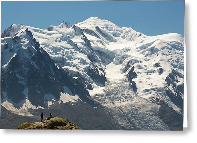 The Mont Blanc Range Above Chamonix Greeting Card