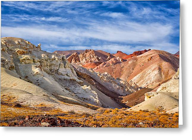 Greeting Card featuring the photograph The Monte Cristos Central Nevada by Janis Knight