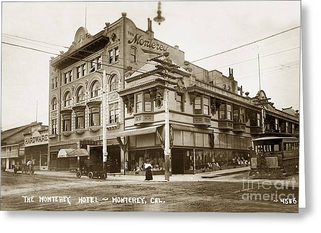The Monterey Hotel 1904 The Goldstine Block Building 1906 Photo  Greeting Card
